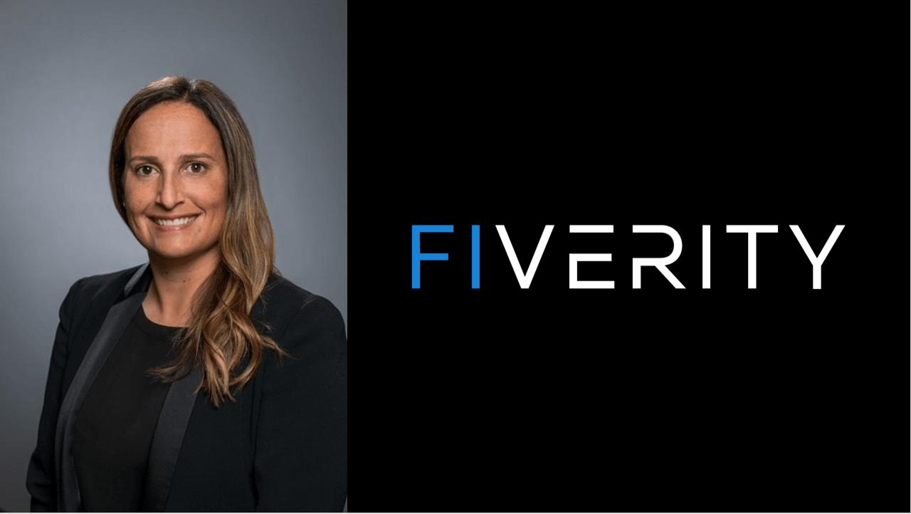 Headshot of Allison Arvizu and FiVerity logo