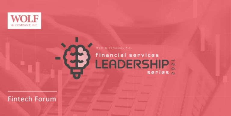 Wolf & Company's Financial Services Webinar