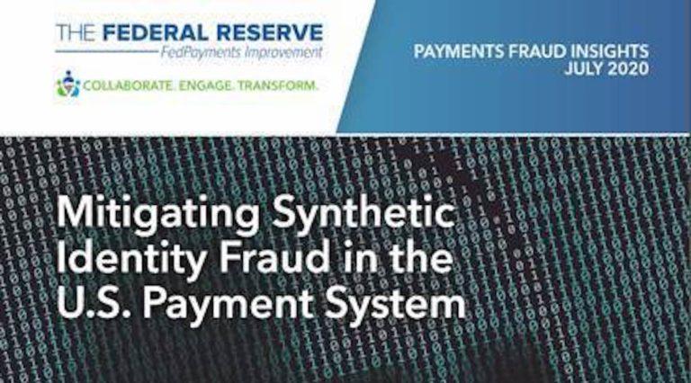Federal Reserve Webinar, Mitigating Synthetic Identity Fraud